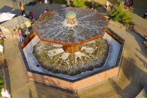 fontanna grzybek - ciechocinek